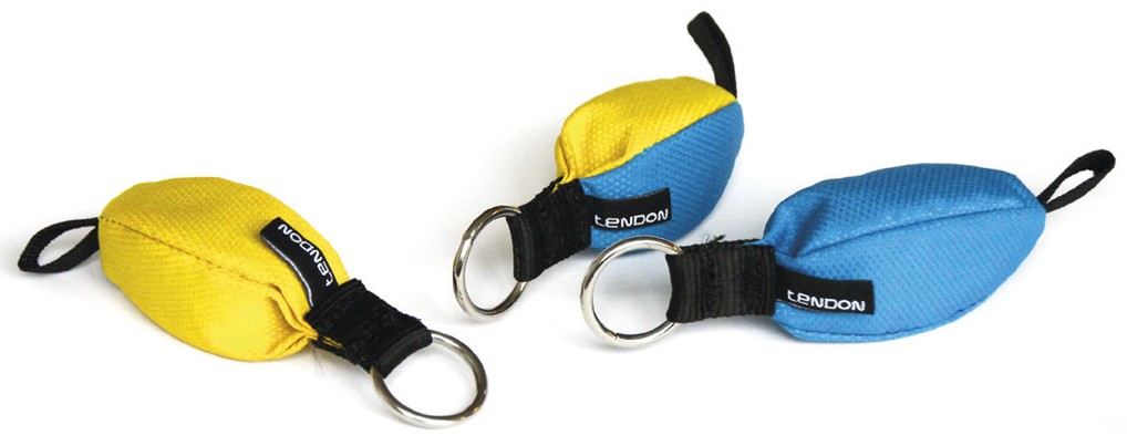 TENDON Timber throw bag - blue/yellow